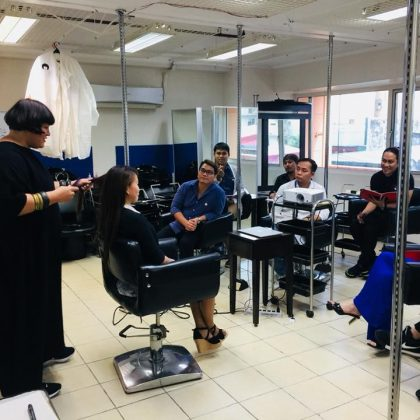 David's Salon Academy Trains with Jessica Kramm