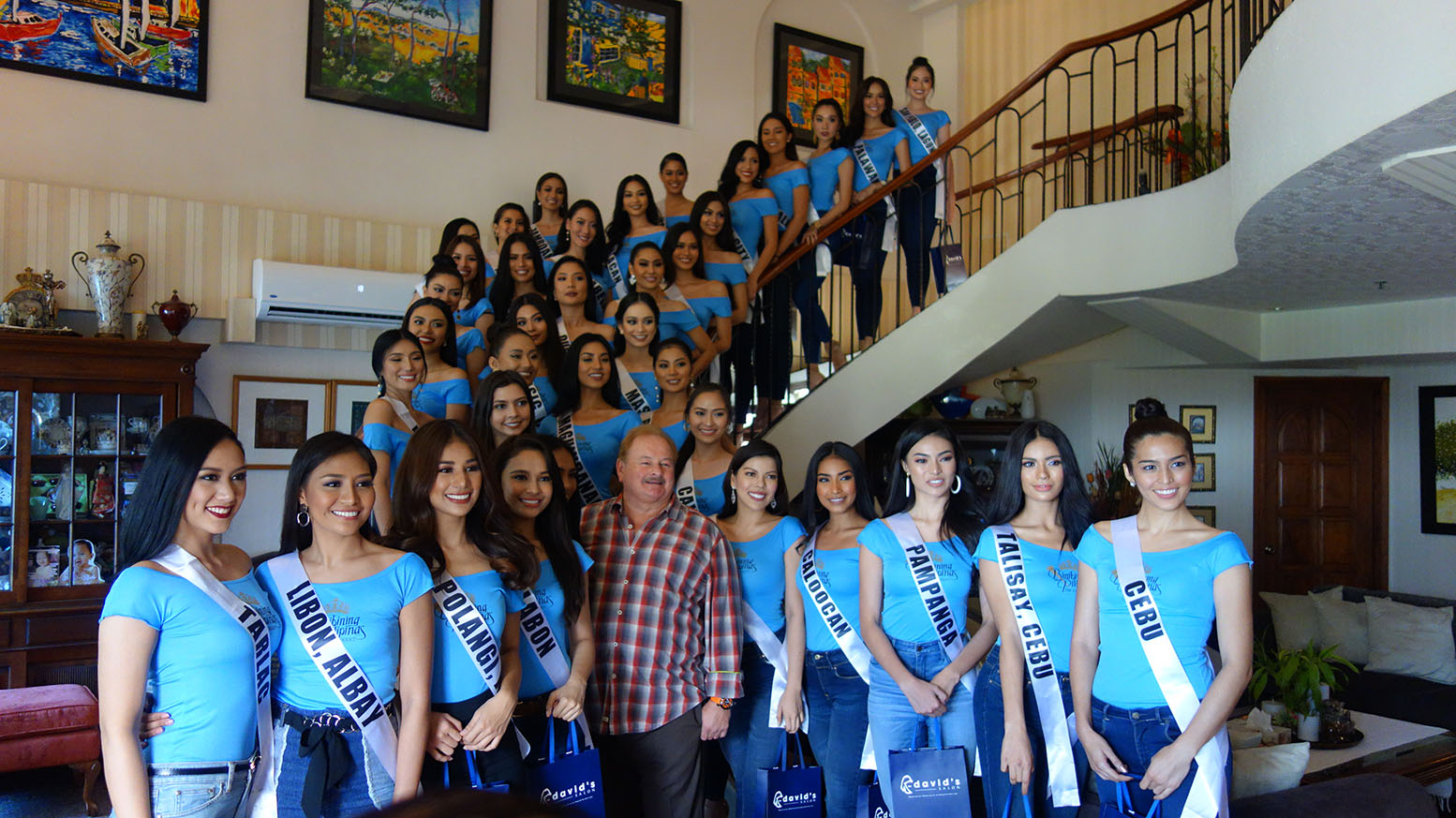 BINIBINING PILIPINAS 2019 BEAUTIES VIST DAVID'S SALON